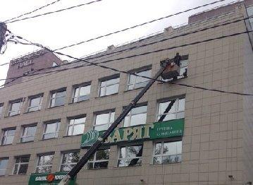 Мытье фасадов, витрин и витражей зданий